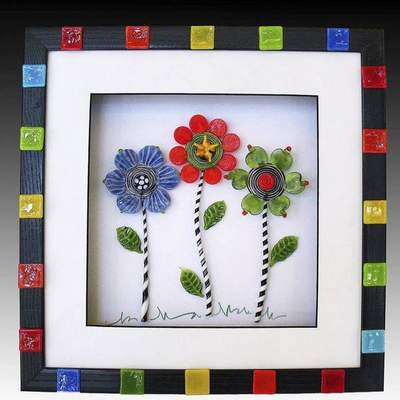 Colorful glass creations by various artists is on exhibit at the Orchard Gallery of Fine Art on Covington Road.