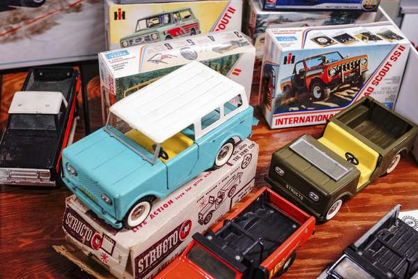 Toy trucks are put on display. There were plenty of different things to see and do at the event.