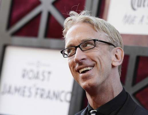 FILE - In this Aug. 25, 2013, file photo, comedian Andy Dick arrives at the Comedy Central Roast of James Franco at The Culver Studios in Culver City, Calif. (Photo by Dan Steinberg/Invision/AP, File)