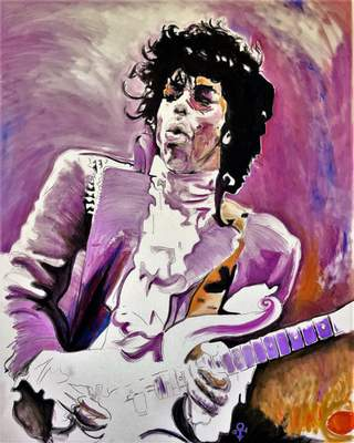 Derrick Hollowell's watercolors of pop icons and celebrities are on exhibit at the Garrett Museum of Art.