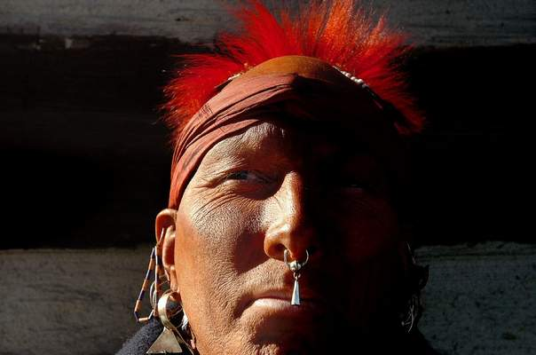 FILE: A Miami Indian reenactor takes part in a Historic Fort Wayne event.