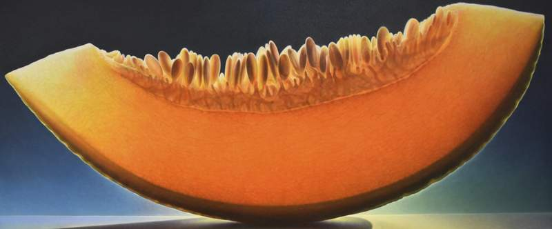 """Melon Series #46"" by Dennis Wojtkiewicz is oil on canvas."