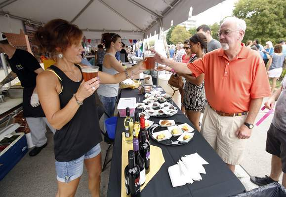 Taste of the Arts includes food and drink from local vendors. Food tickets are available for $1 each.