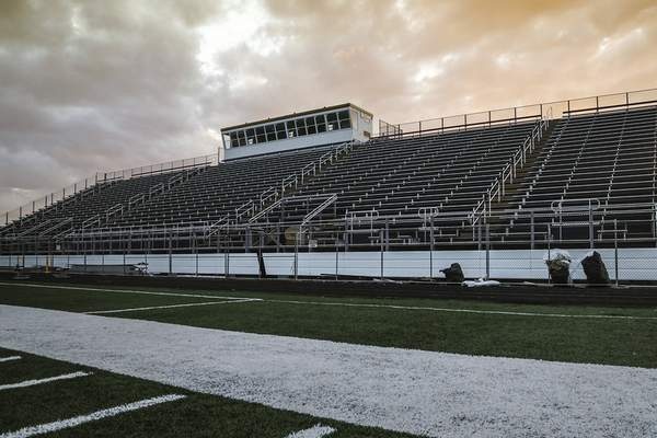 Mike Moore | The Journal Gazette  Shields Field at Bishop Dwenger high school on Thursday.
