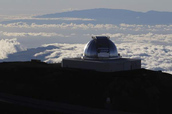 FILE - In this July 14, 2019, file photo, a telescope at the summit of Mauna Kea, Hawaii's tallest mountain is shown. (AP Photo/Caleb Jones, File)