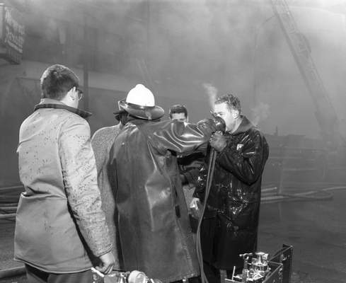 Feb. 19, 1957: Fireman Eldon Lemmel was one of several members of the fire crew that suffered from smoke exhaustion during the fire. (Journal Gazette file)