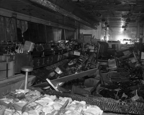 A once-busy soda fountain and lunch counter were among some of the only remnants left from the fire, which caused $350,000 worth of damage.