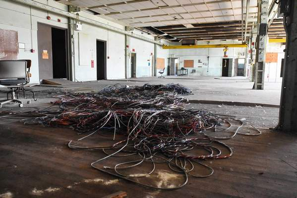 Michelle Davies   The Journal Gazette  Natural light floods the space of what will be an open office area in the Electric Works project.