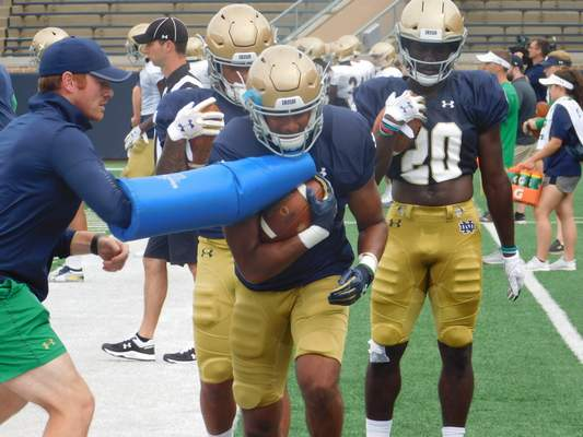 Dylan Sinn   Journal Gazette Notre Dame freshman running back Kyren Williams is among the young players who will need to step up in 2019.