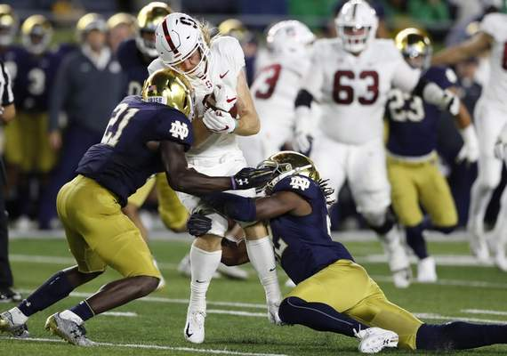 Associated Press The Irish face a bevy of tough foes this season, including going to Stanford to face the Cardinal on Nov. 30.