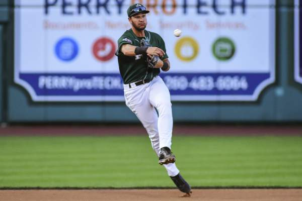 Mike Moore | The Journal Gazette  The TinCaps face off with the Lansing Lugnuts tonight at Parkview Field in the second-to-last game of the season. First pitch is at 6:05 p.m. and it's Hispanic Celebration Night at the stadium.