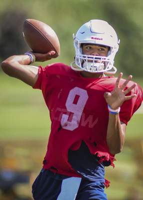 Mike Moore | The Journal Gazette Brandon Winters will guide the Trine offense after passing for 1,056yards last year.