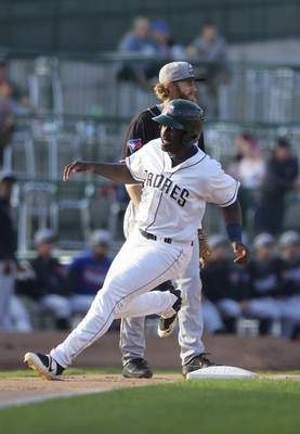 Katie Fyfe | The Journal Gazette The TinCaps' Dwanya Williams-Sutton's .411 on-base percentage was tops in the Midwest League.