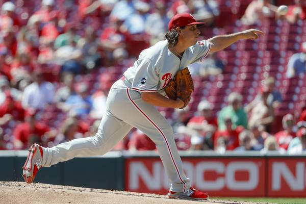 Image result for Phillies Pitcher 2019 AP Photo 600 x 400