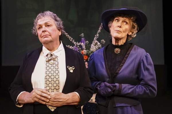 Marsha Wallace, left, and Kate Black are among other stars as the satire opens tonight. The play continues through Sept. 21.