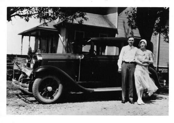 Courtesy photos  Carl Enz and LeNore Hoard are shown on July 4, 1930, in Convoy, Ohio, before they were married.