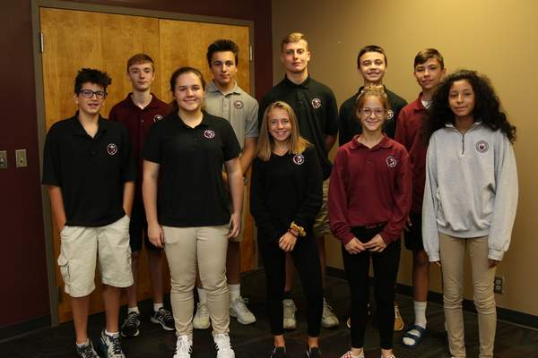 Concordia High School's new Honors Academy students