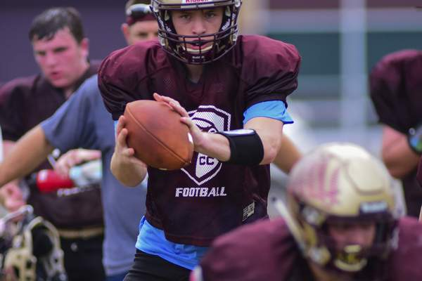 Mike Moore | The Journal Gazette Columbia City quarterback Greg Bolt is only a sophomore but becoming a team leader.