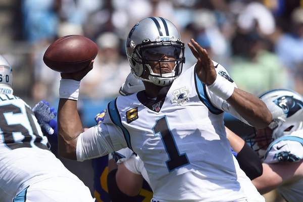 Associated Press Panthers quarterback Cam Newton has been ruled out for Sunday's game in Arizona with a mid-foot sprain.