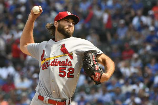 Associated Press Cardinals starting pitcher Michael Wacha gave up one run and five hits in four innings of work Friday in Chicago.