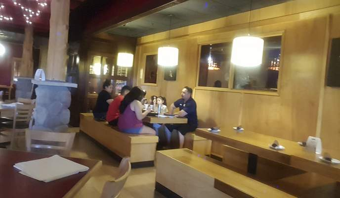 The main dining room of Naked Tchopstix on West Jefferson Boulevard.