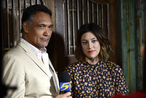 """NBC Jimmy Smits, left, and Caitlin McGee star in """"Bluff City Law."""""""