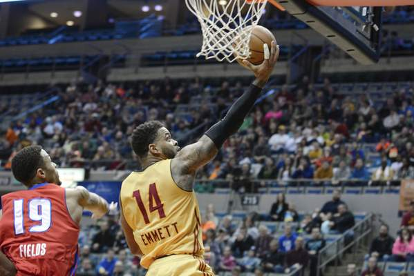 File photo  Andre Emmett with the Mad Ants in 2015.