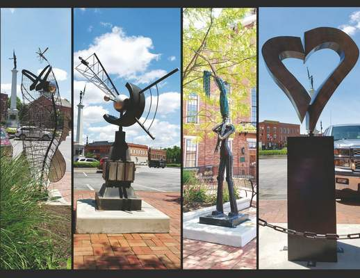 Courtesy: Four sculptures have been on display in Angola since June. More will be added in October.