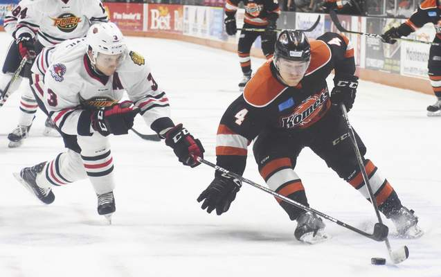 File photo  Jason Binkley, right, is now the second longest tenured Komets player.