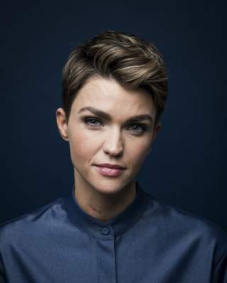This Sept. 30, 2019 photo shows actress Ruby Rose posing for a portrait in New York to promote her CW series