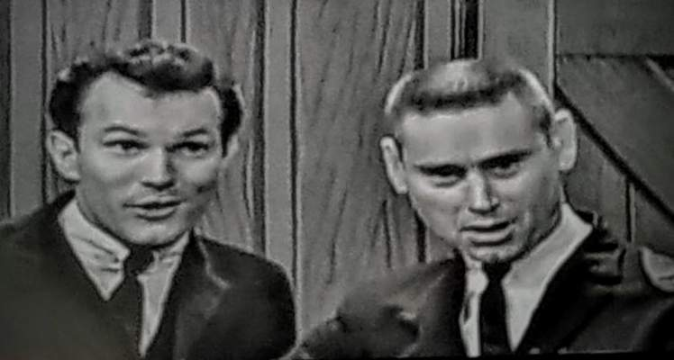 Marion's George Riddle, right, with country legend George Jones, in Ken Burns' Country Music.