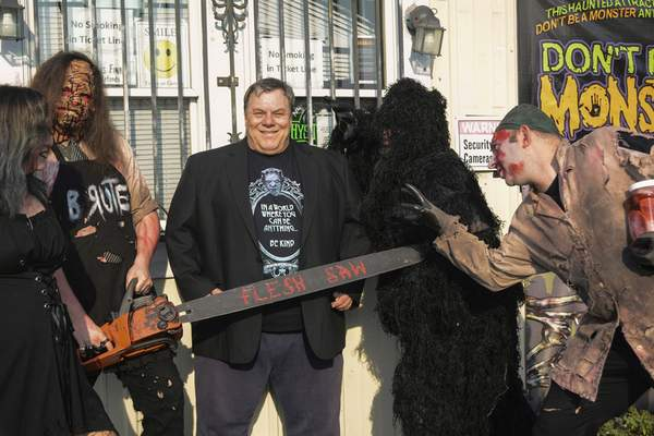 Terri Richardson | The Journal Gazette Brett Molitor doesn't consider himself a scary guy, but he enjoys scaring his Hysterium Haunted Asylum customers.