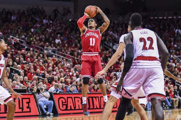 Indiana University Indiana senior guard Devonte Green shot 41% from 3-point range last season, but will be tested by the new longer 3-point line instituted by the NCAA this season.
