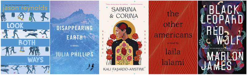 This combination photo of book cover images shows, from left,