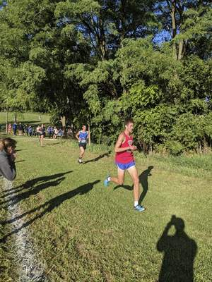 Courtesy West Noble senior Colten Cripe returned to running this season after suffering serious injuries in a car crash last fall.