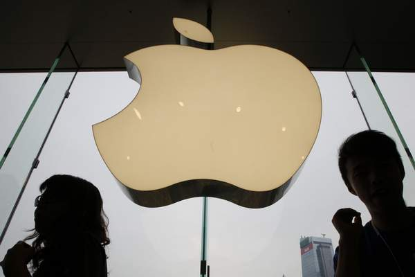 Associated Press An Apple logo is displayed at the Apple store in International Financial Center in Hong Kong as the company has been criticized by China for its smartphone app that allows for tracking of police movements amid widespread protests.