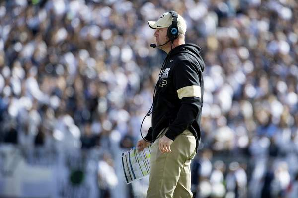 Associated Press Purdue head coach Jeff Brohm saw his defense give up touchdowns to Penn State on each of the Nitany Lions' first four drives.