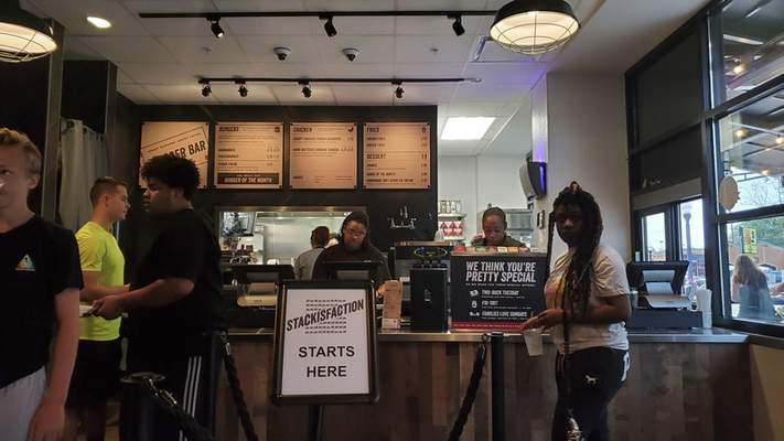 The order counter at Burger Bar in the Hampton Inn & Suites downtown.