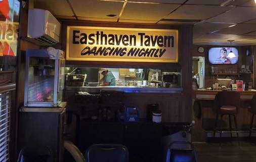 Easthaven A nifty sign above the kitchen window at the Easthaven Tavern in New Haven. (Ryan DuVall)