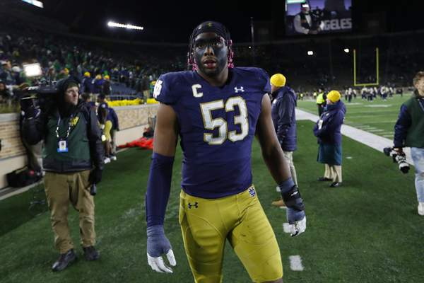 Associated Press Michigan was among Notre Dame defensive lineman Khalid Kareem's three final college choices, and he played against many of the Wolverines in high school.