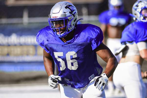 Mike Moore   The Journal Gazette  Saint Francis junior linebacker Jamal Jackson is second on the team in tackles with 37.