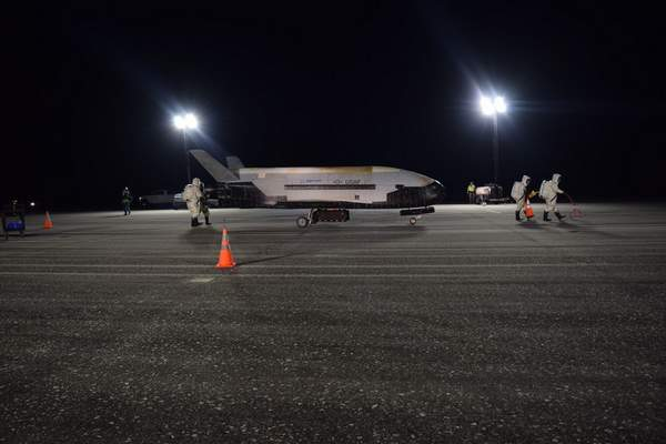 Associated Press The Air Force's X-37B successfully lands Sunday at NASA's Kennedy Space Center  on Merritt Island in Brevard County, Fla.