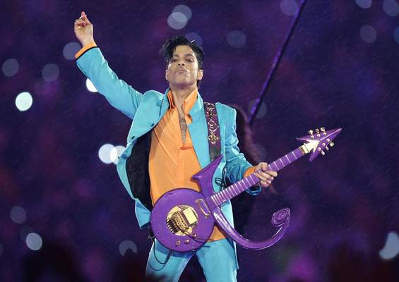 FILE - In this Feb. 4, 2007, file photo, Prince performs during the halftime show at the Super Bowl XLI football game in Miami.  (AP Photo/Chris O'Meara, File)