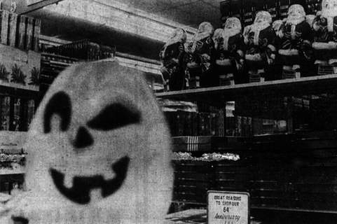 No Title File Halloween and Christmas decor were displayed in October 1974 at a Glenbrook Square variety store.  (User: Windows NT/95/98 User)