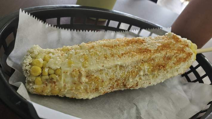 Elotes from Tropic Chicken on East State Boulevard.