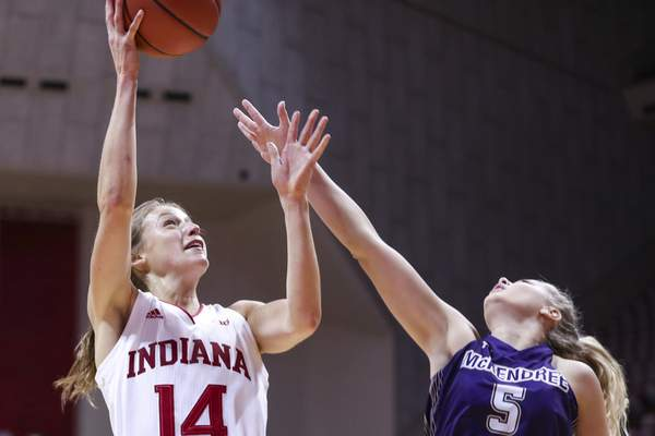 Indiana guard Ali Patberg led the Hoosiers in scoring and assists last season and is trying to lead the Hoosiers to back-to-back NCAA Tournaments for the first time since 1994 and 1995. (Courtesy: Indiana Athletics)