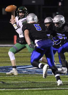 Eastside quarterback Laban Davis averages 119 yards passing and 52.6 yards rushing in leading the Blazers to a 9-2 record and a sectional final.