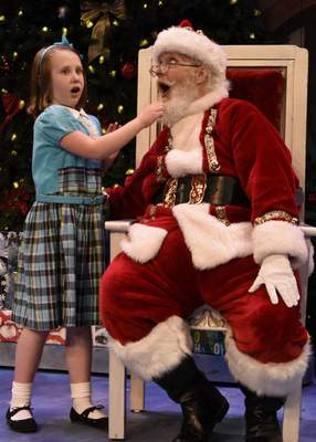 """Courtesy Sarrazine Prough, left, and Gary Coffelt star in Fort Wayne Civic Theatre's performance of """"Miracle on 34th Street,"""" which opens Saturday."""