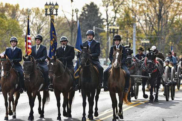 File The annual Veteran's Day parade Saturday will begin along Parnell Avenue and end with a ceremony at Memorial Coliseum.