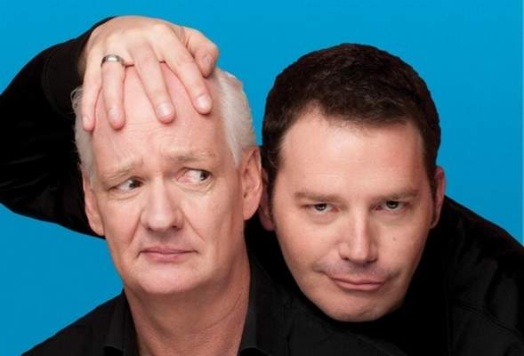 Courtesy Collin Mochrie and Brad Sherwood will bring their comedy tour to the Honeywell Center in Wabash today.